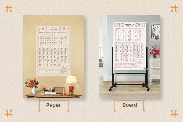 Chinese Pinyin_ตัวอักษรพินอินจีน_Paper_Board